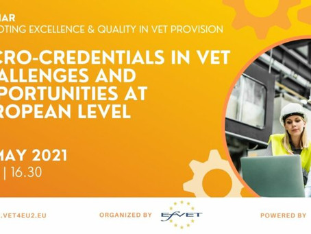 Webinar: Micro-Credentials in VET. Challenges and opportunities at European level
