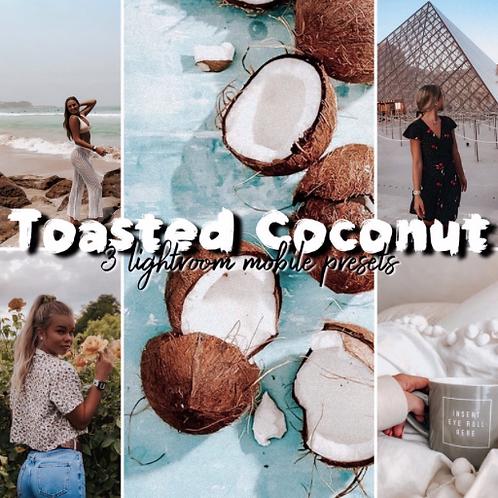 Toasted Coconut • 3 Lightroom Mobile Presets