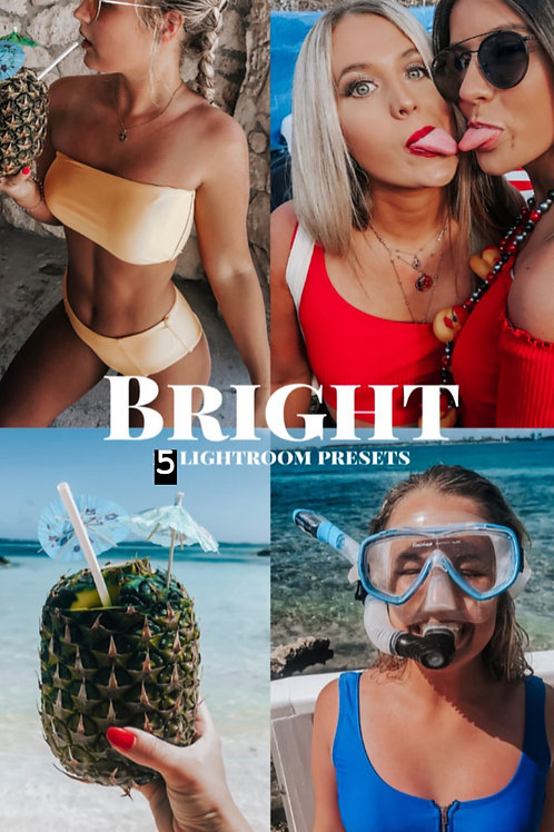 5 brighter and better MOBILE LIGHTROOM PRESET - bright, clear, beautiful