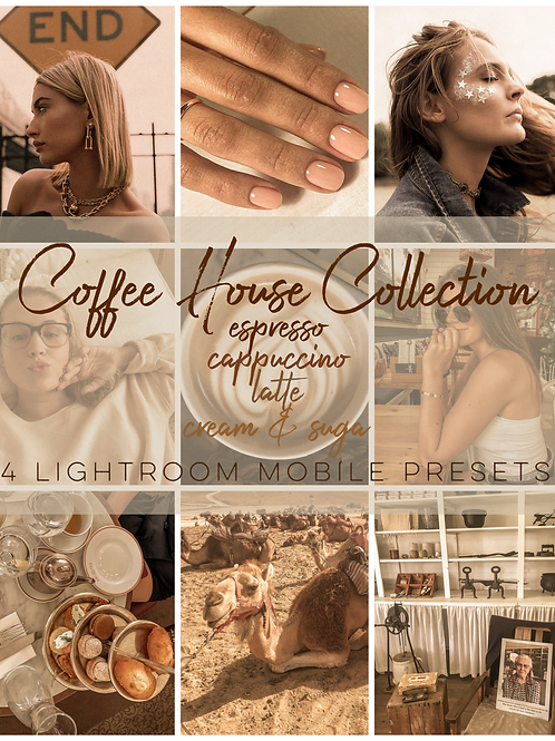 Coffee House Collection- 4 Lightroom Mobile Presets