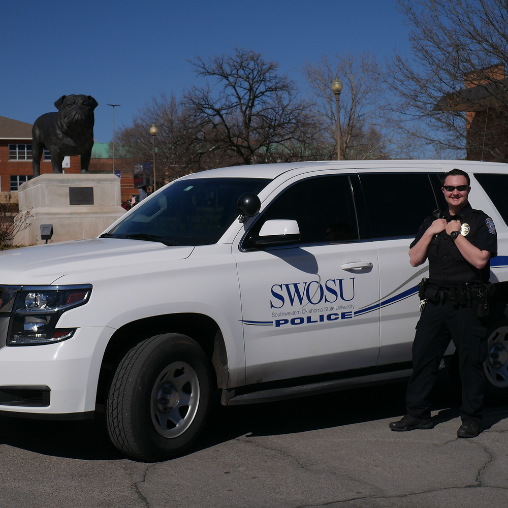 SWOSU police officer Brandon Lewis. Photo: Emilie Kemp