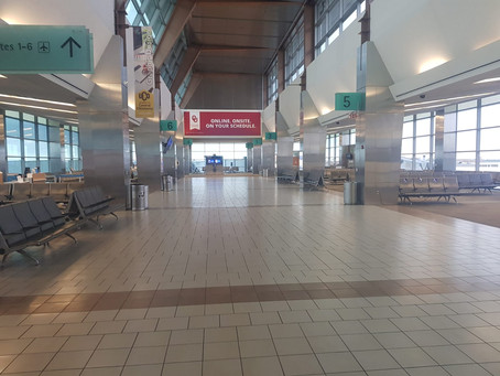 Flying during Covid-19: Empty airports, empty airplanes