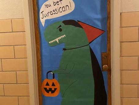 Spooky doors win prizes
