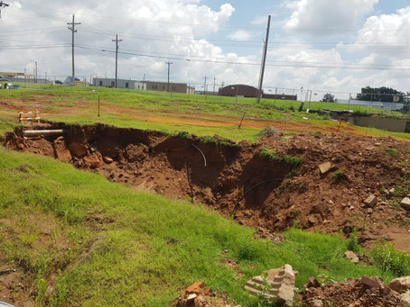 Sinkhole site in Weatherford