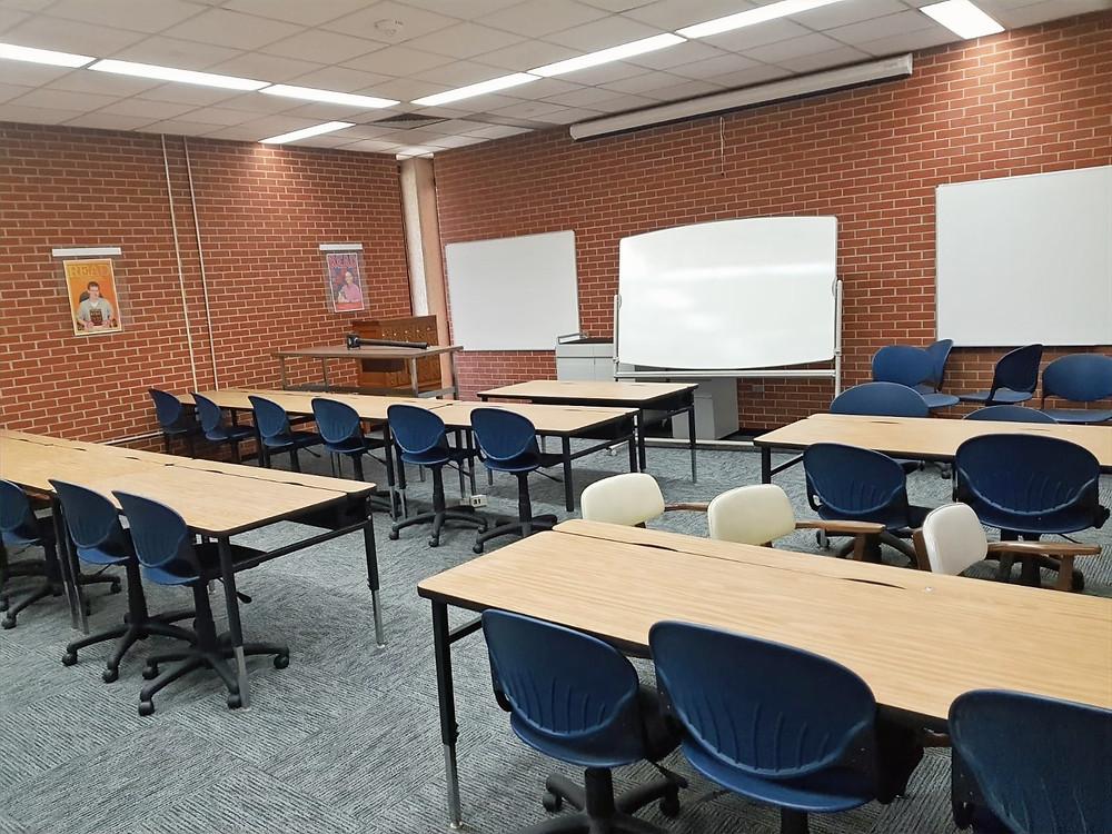 Classroom in SWOSU's Al Harris Library.