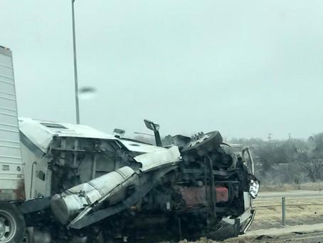 Car wrecks on I-40