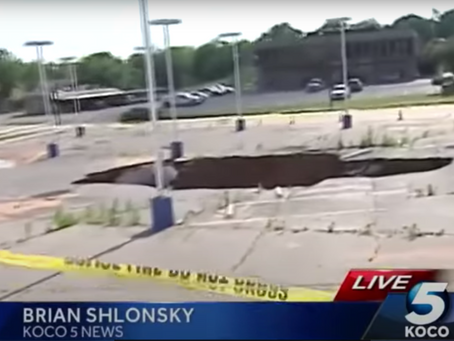 Site of former sinkhole in Weatherford is now being prepared for new construction