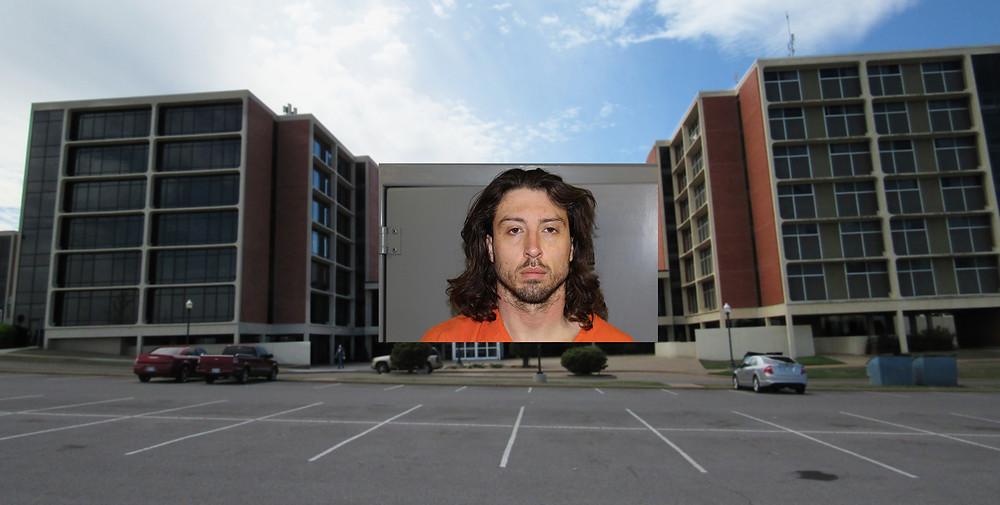Brandon Woods broke into Mann Hall on Feb. 24. Photos: Johannes Becht / Custer County Sheriff's Office