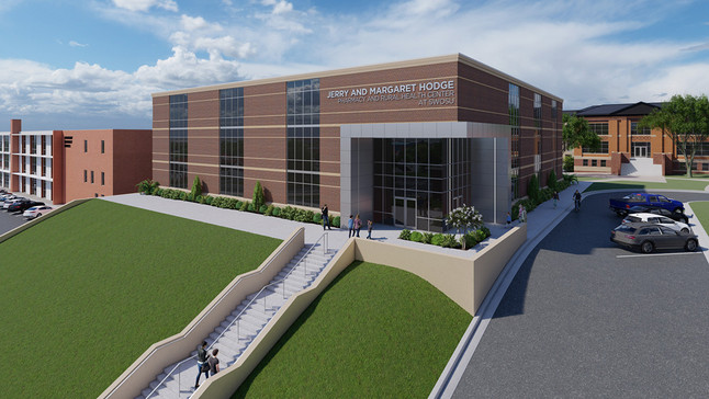 What's the latest on the planned Pharmacy & Rural Healthcare Center at SWOSU?