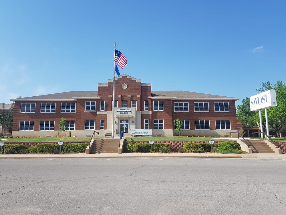 The Administration Building of Southwestern Oklahoma State University. Photo: Johannes Becht
