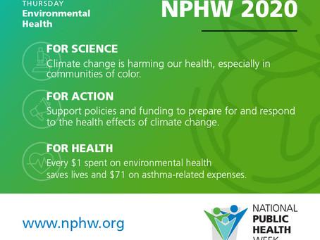 National Public Health Week: Environmental Health