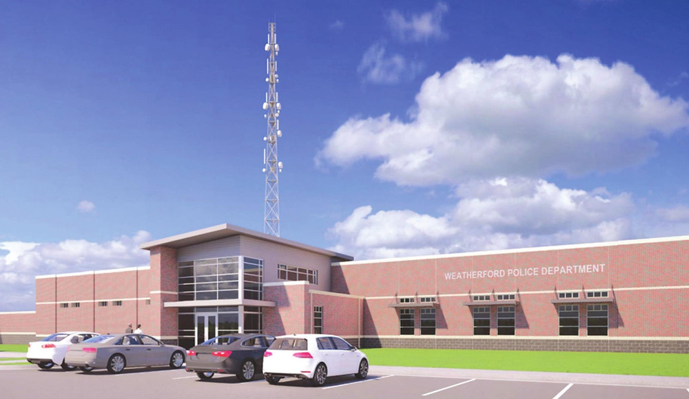 That's how the new police station in Weatherford, Oklahoma, will look like. Photo provided.