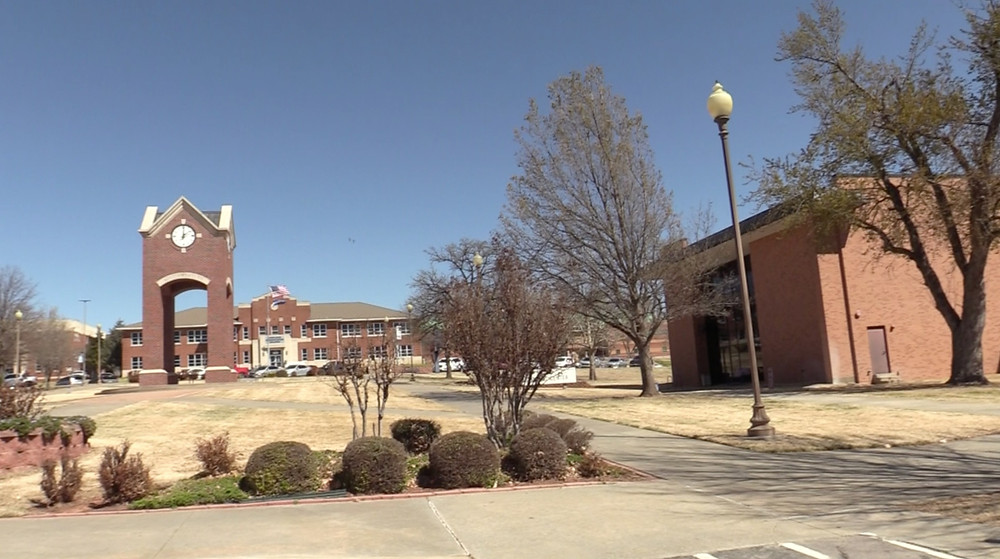 Empty SWOSU campus during the lockdown. Photo: Johannes Becht