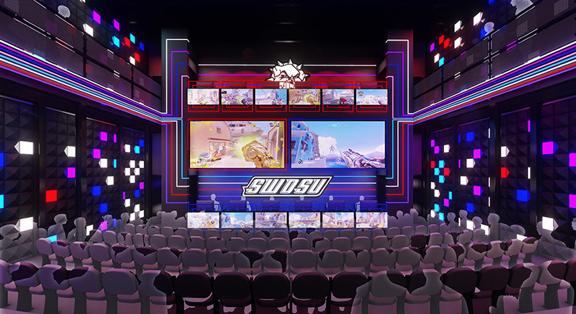 That's how the new eSports arena at SWOSU is supposed to look like. Photo: Provided.