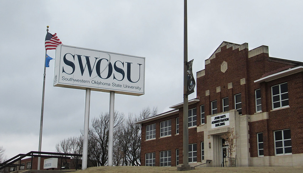 The Administration Building on the SWOSU campus. Photo: Kiersten Stone.