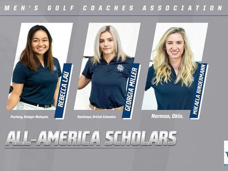 Lady Bulldog golf trio named WGCA All-American Scholars