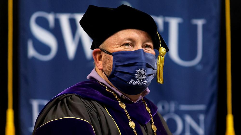 SWOSU President Randy Beutler at the graduation ceremony. Photo provided.