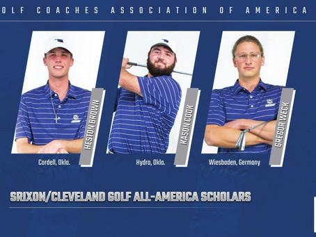 Three SWOSU golfers named All-America Scholars