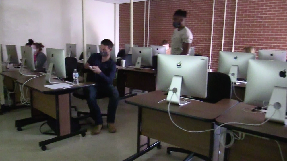 SWOSU students remained in the classrooms during lockdown. Photo: Johannes Becht