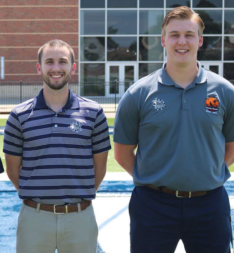 Stephen McTeer (left) and Greydon Buhlig. Photo provided by SWOSU athletics.