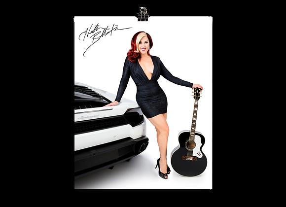 Heather Ballentine Standing with Lamborghini Huracán