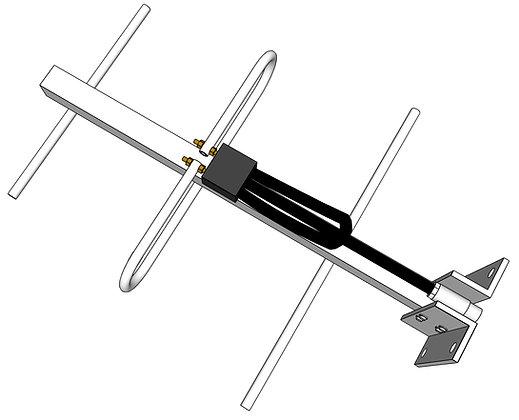 Antena Yagi 8 dBi UHF