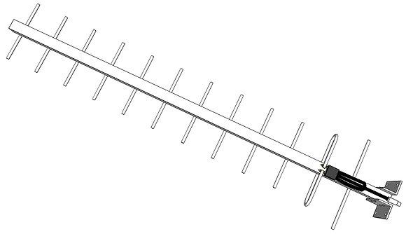 Antena Yagi 14 dBi UHF
