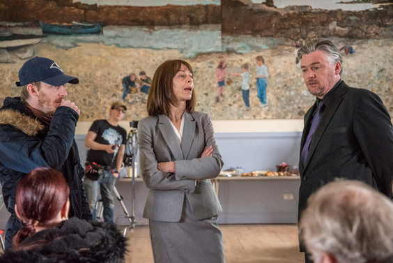 Kate Dickie & Stephen McCole on the set of 'Natalie'