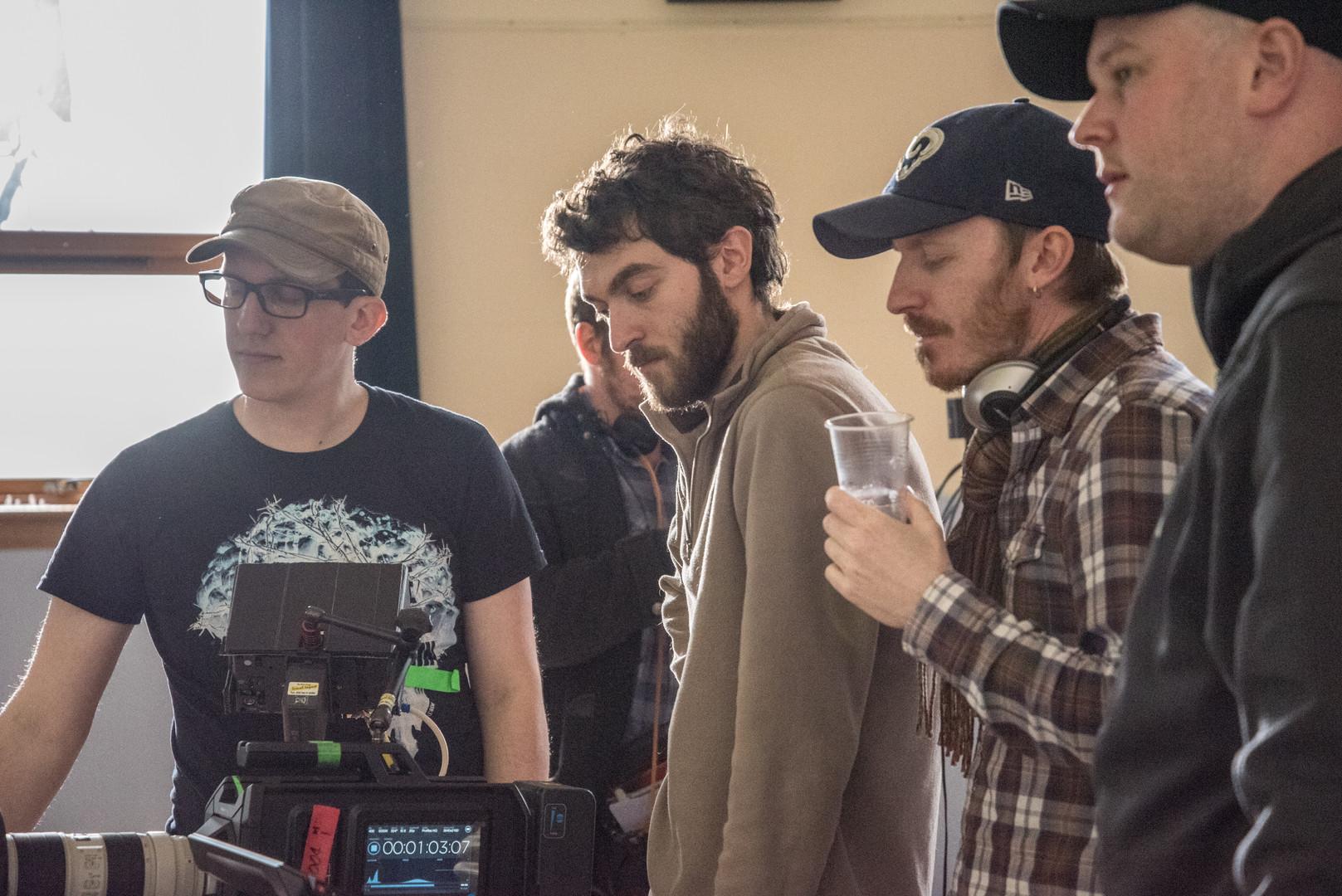 Paul Forrest (Focus Puller), Carlo D'Alessandro (DoP) & Stuart Cadenhead (AD) on the set of 'Natalie'.