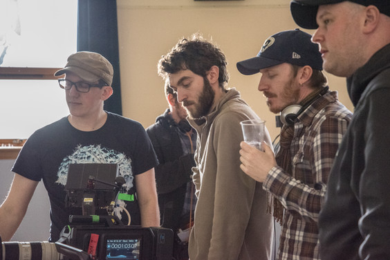 Paul Forrest (Focus Puller), Carlo D'Alessandro (DoP) & Stuart Cadenhead (AD) on the set of 'Natalie'.