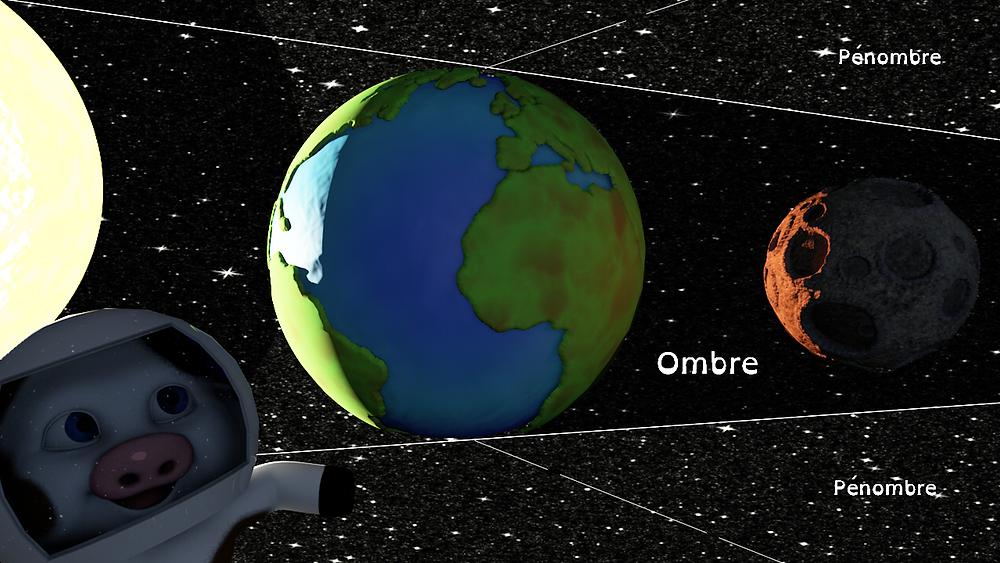 éclipse lunaire schéma
