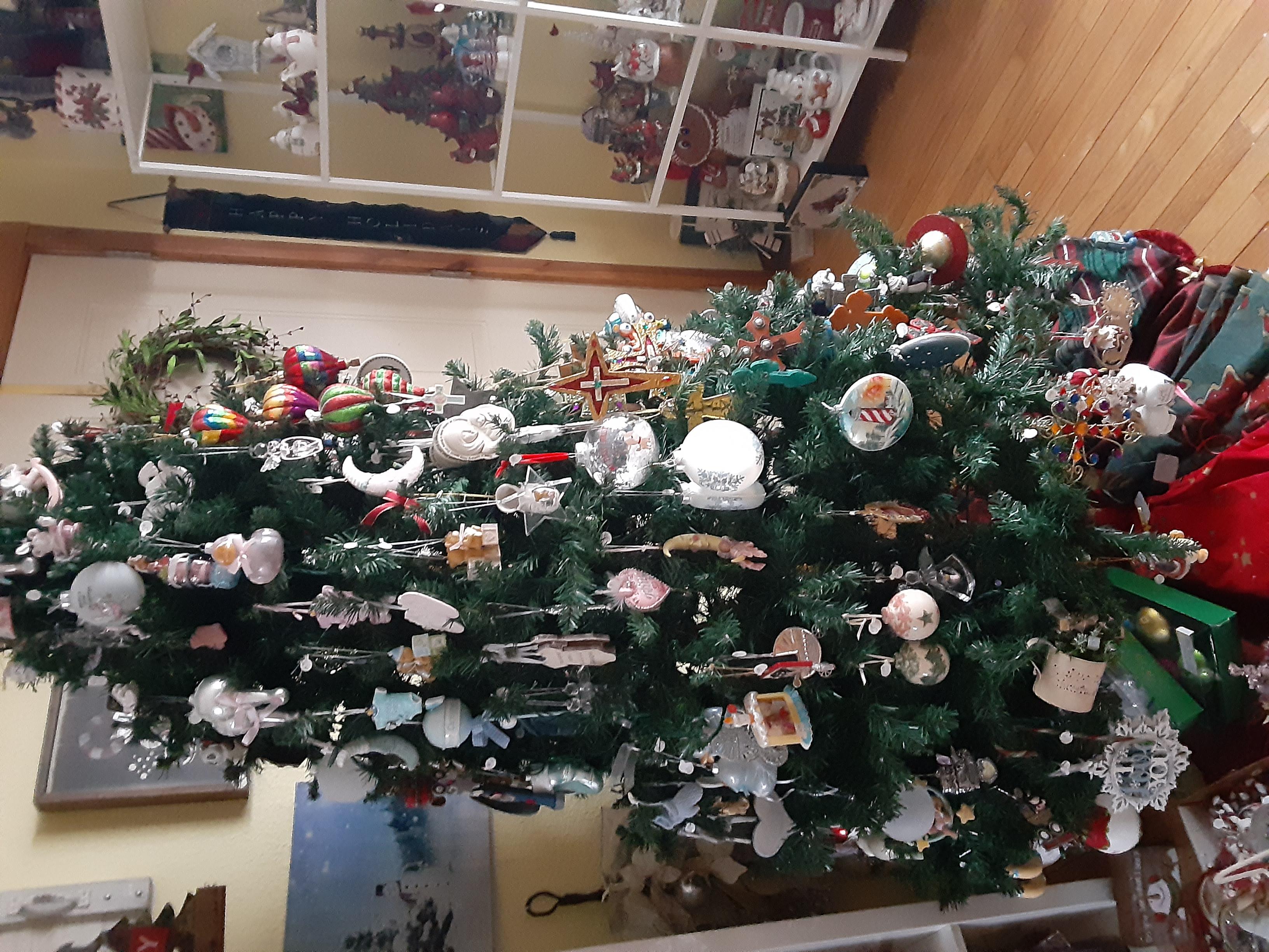 One of 6 xmas trees full of ornaments