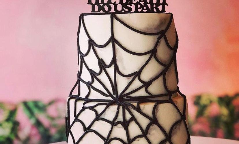 2-TIERED | Til Death cake