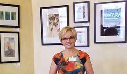 Renee Christenson shows her art.