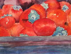 Box of Persimmons, Watercolor