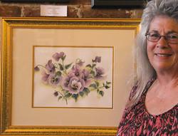 Michelle Ramsey displays her art.
