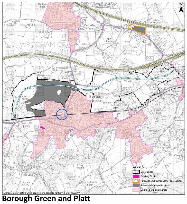 LOCAL PLAN MAP BOROUGH GREENGARDEN CITY