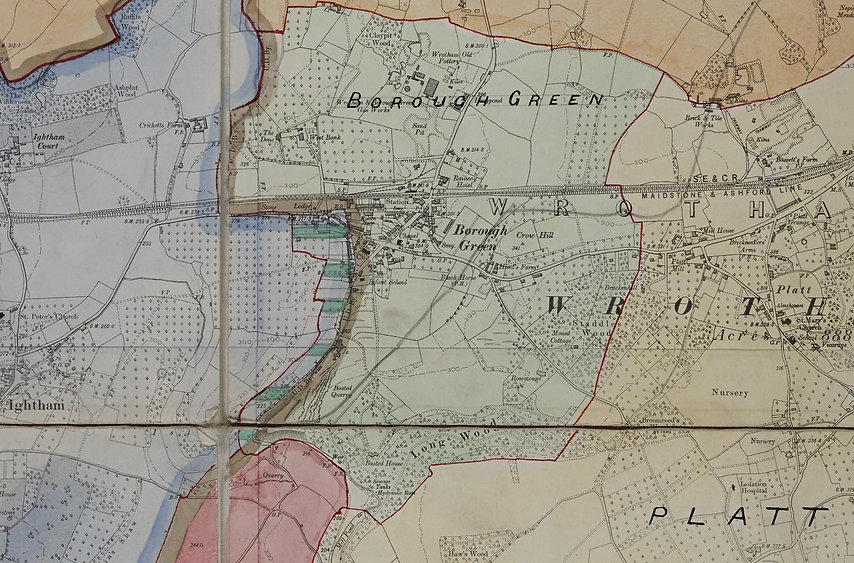 Borough Green 1934 map