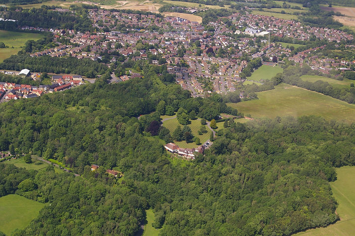 Borough Green Aerial view looking North