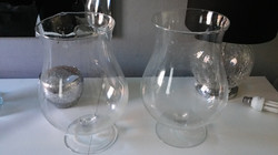 LARGE GLASS GOBLET VASES