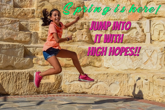 Jump Into Spring Time Vibes