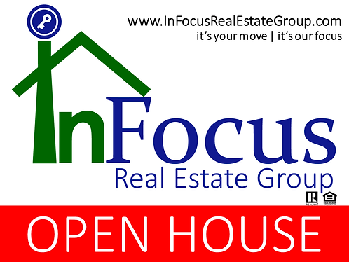 InFocus Open House Yard Sign - Aluminum
