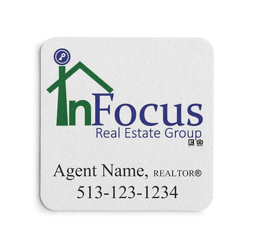 InFocus Personalized Paper Coasters