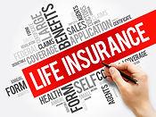 LIFE Insurance word cloud collage, healt