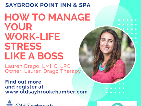 Chamber of Commerce Women in Business Luncheon: How to Manage Your Work-Life Stress Like a Boss