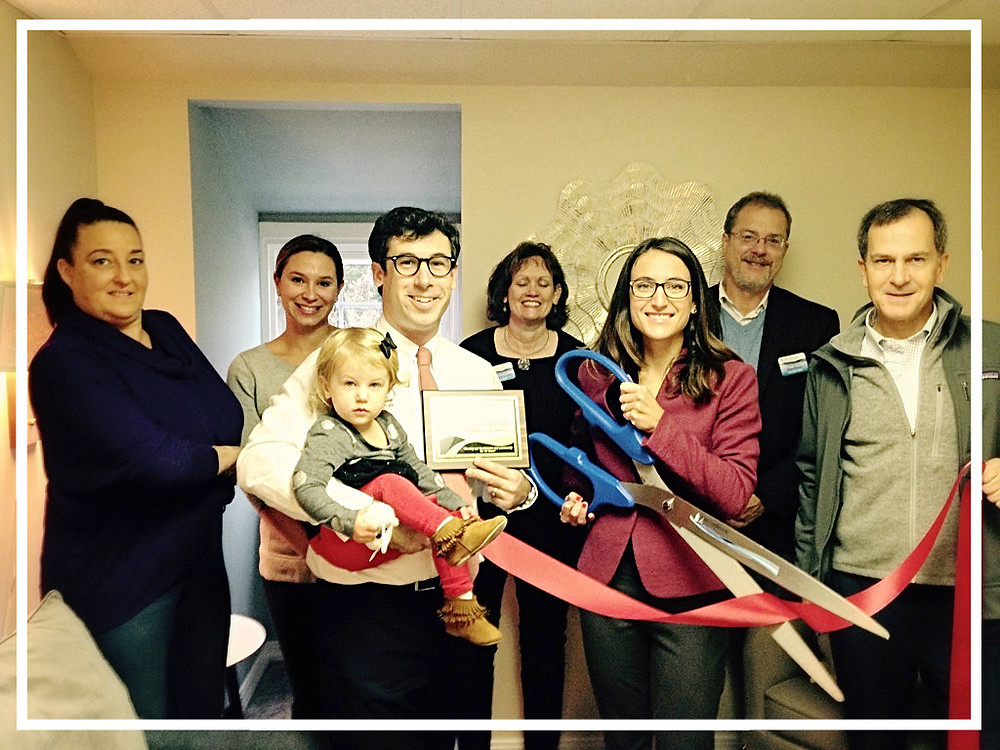 old saybrook chamber of commerce ribbon cutting for therapist counselor