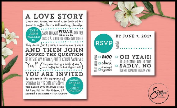 Smitten Paper Co Wedding Stationery