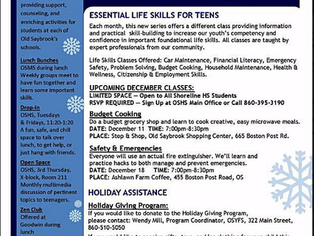 Local Events: Old Saybrook Youth & Family Essential Life Skills for Teens