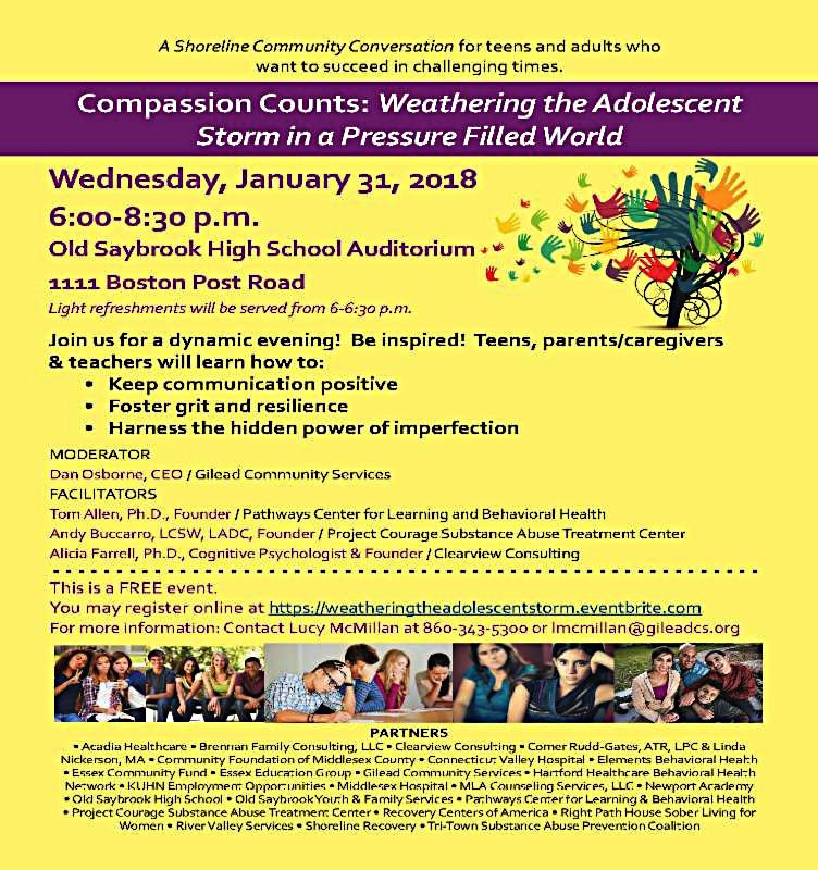 compassion counts weathering the adolescent storm event old saybrook counselor therapist