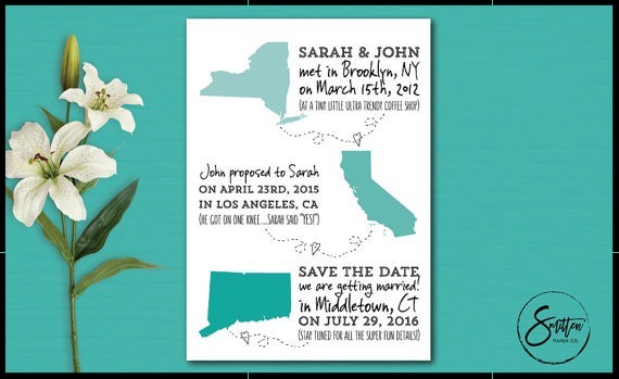 Non-traditional wedding stationery Smitten Paper Co